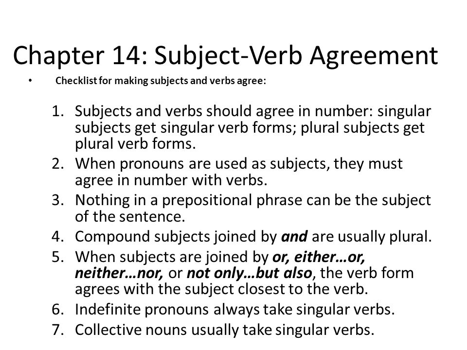 Chapter 14 subject verb agreement ppt video online download chapter 14 subject verb agreement platinumwayz