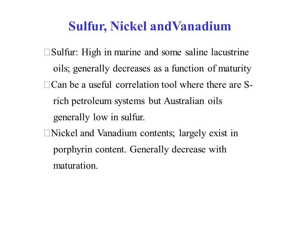 Sulfur, Nickel andVanadium