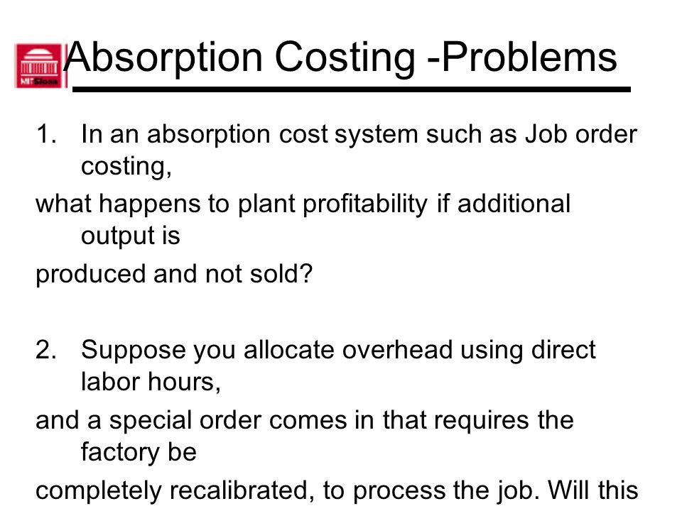 Absorption Costing -Problems