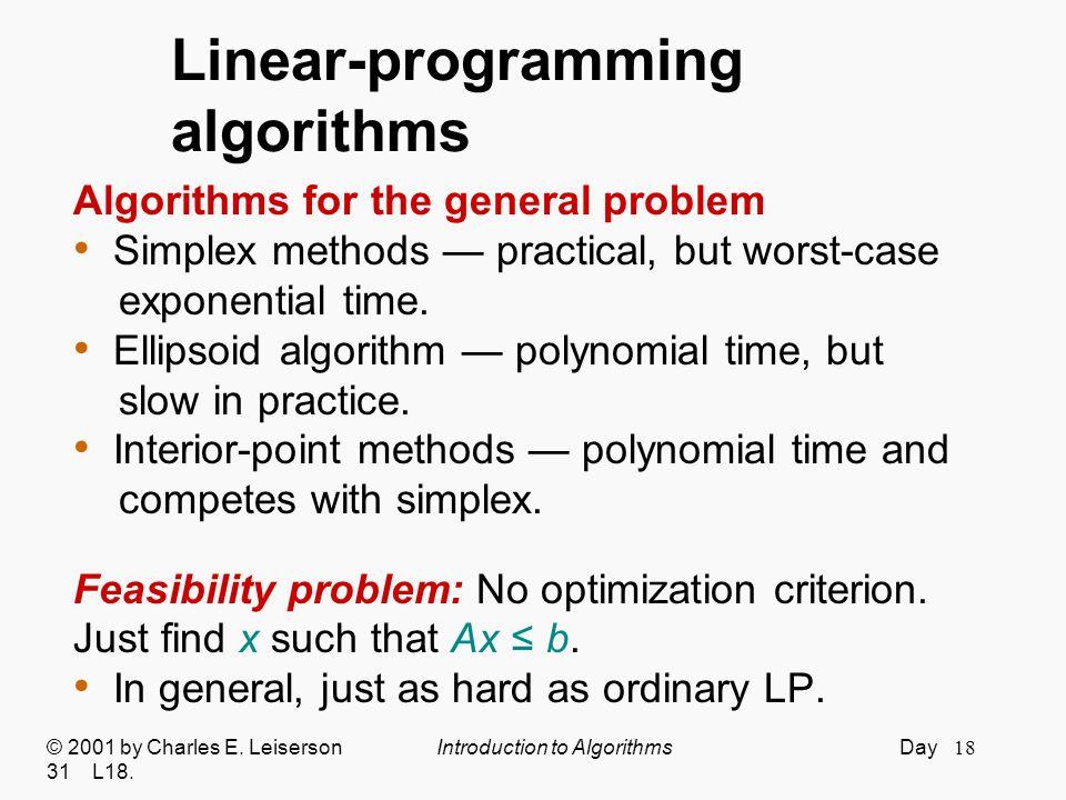Linear-programming algorithms