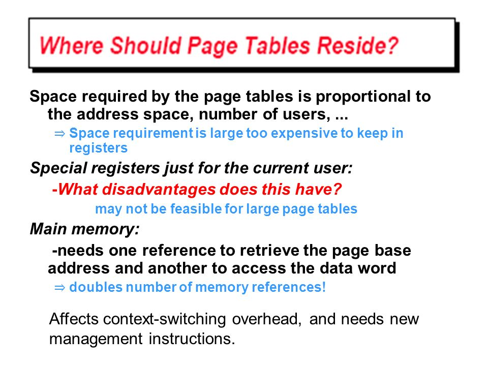 Special registers just for the current user: