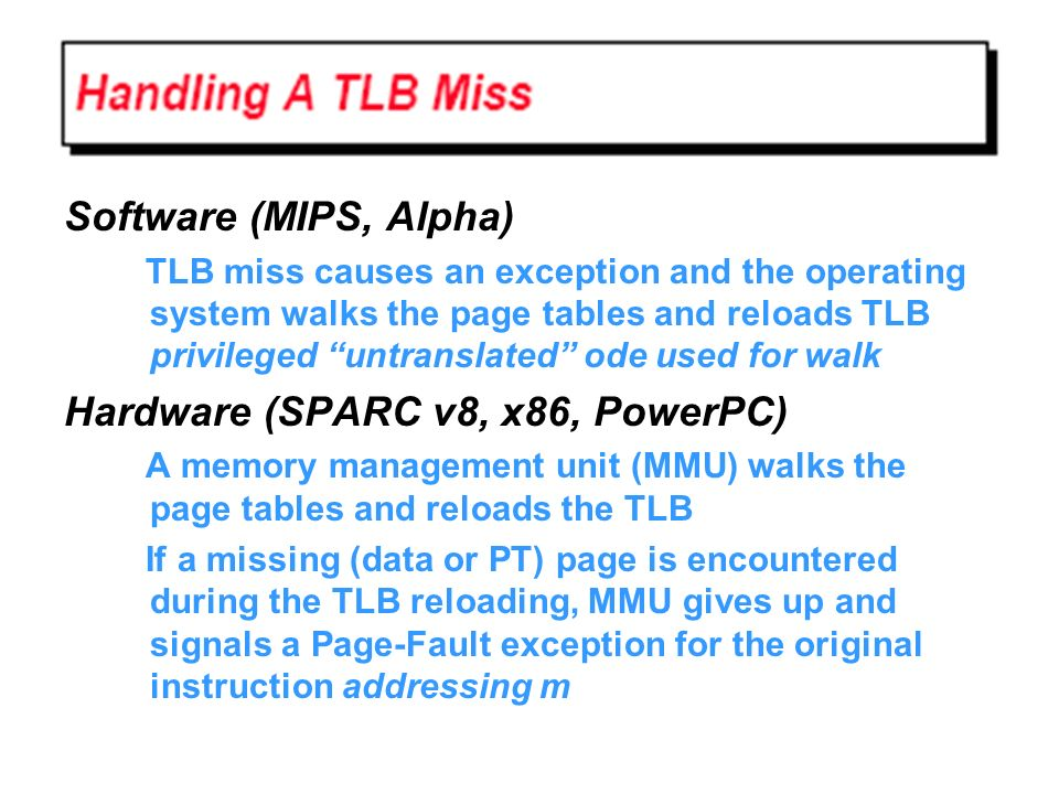 Hardware (SPARC v8, x86, PowerPC)