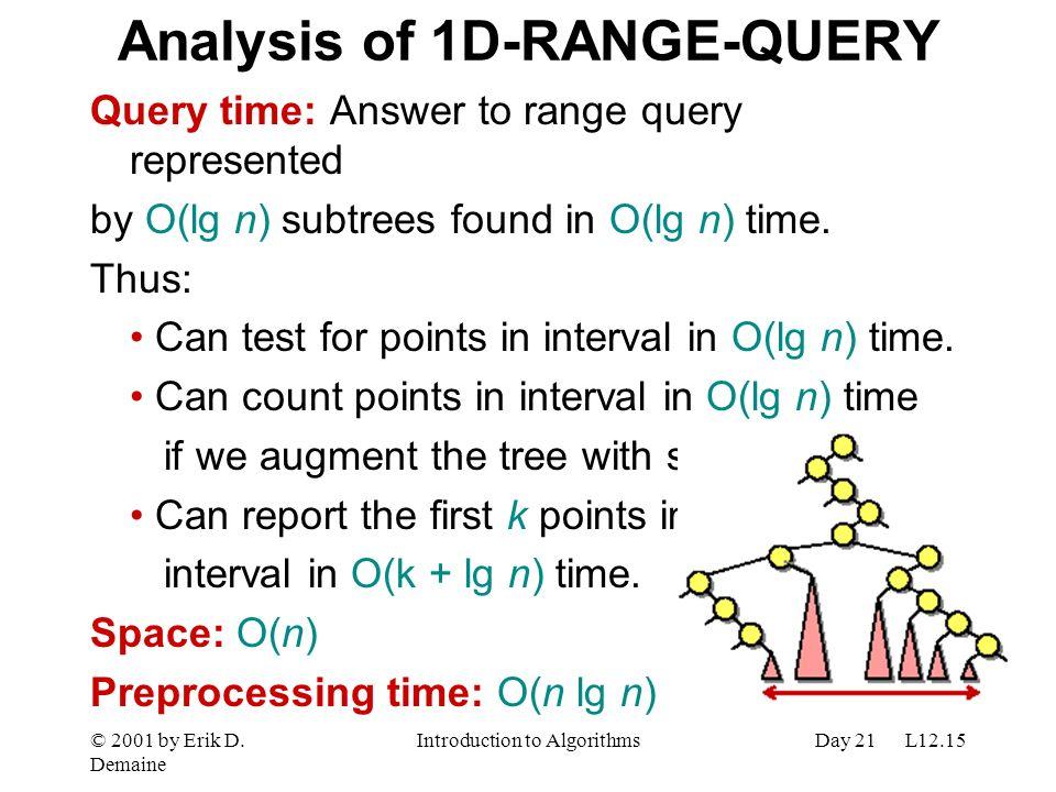 Analysis of 1D-RANGE-QUERY