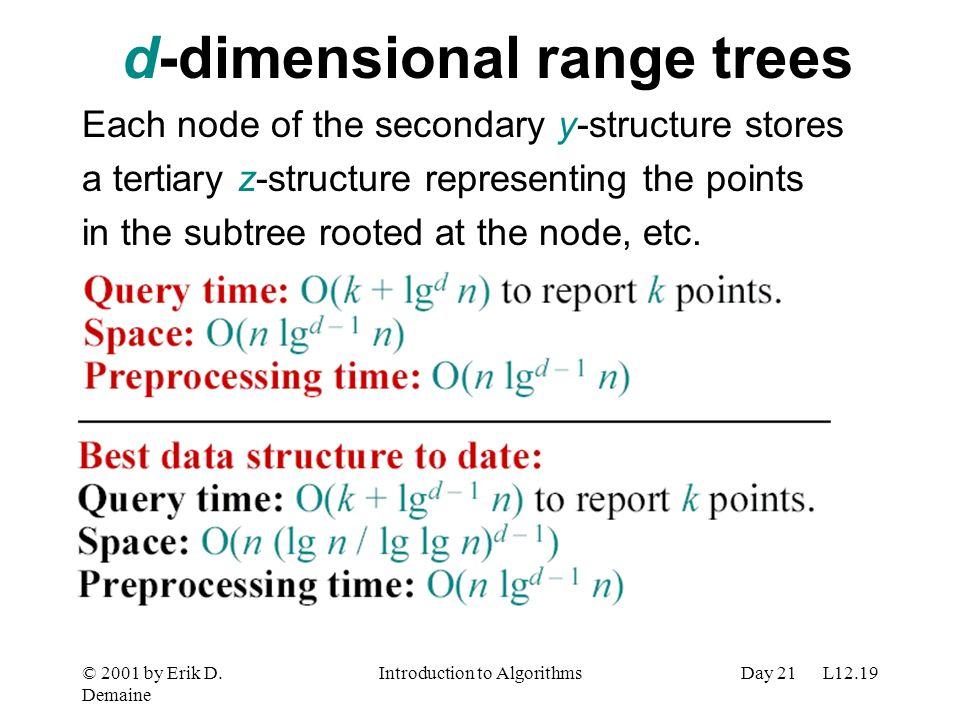 d-dimensional range trees