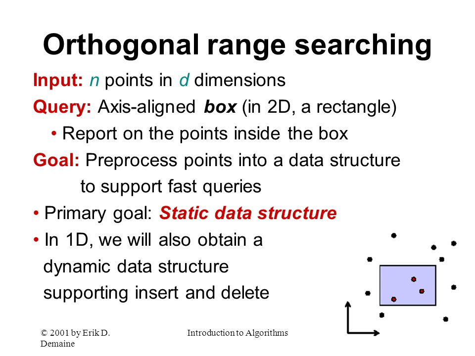 Orthogonal range searching