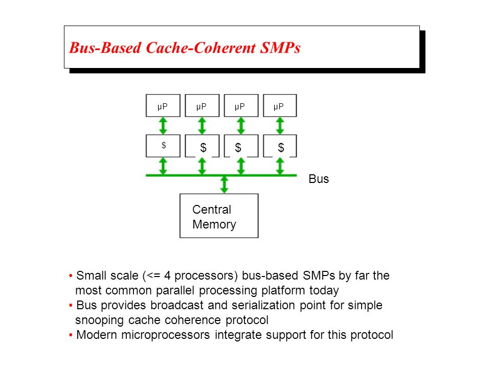 Bus-Based Cache-Coherent SMPs