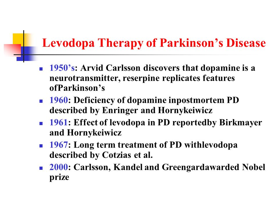 Levodopa Therapy of Parkinson's Disease