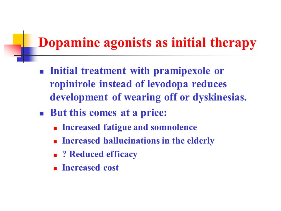 Dopamine agonists as initial therapy