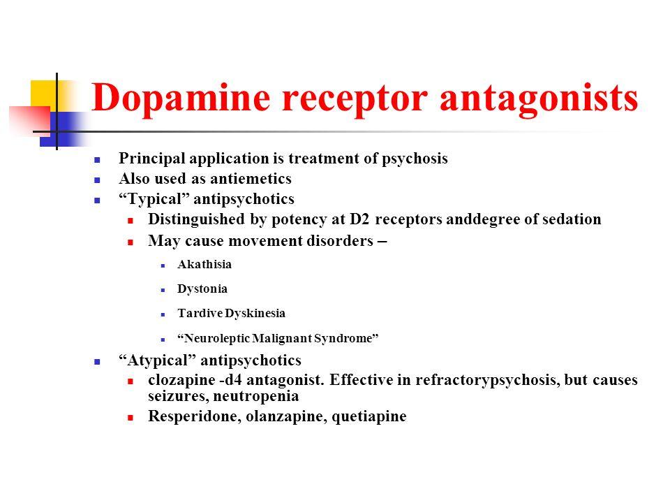 Dopamine receptor antagonists