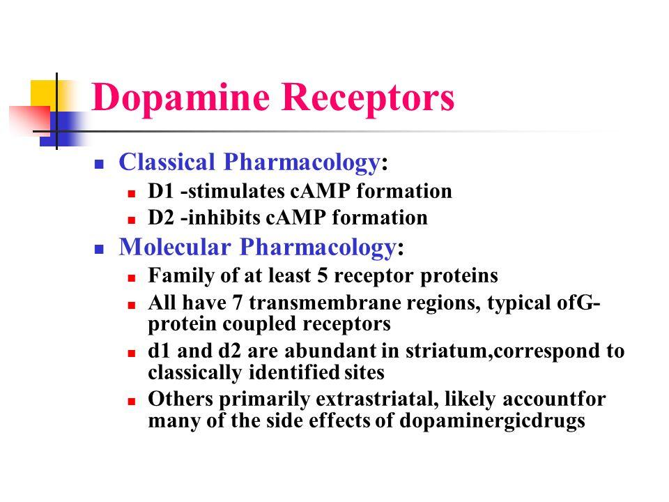 Dopamine Receptors Classical Pharmacology: Molecular Pharmacology: