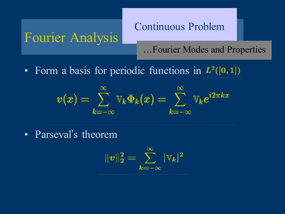 …Fourier Modes and Properties