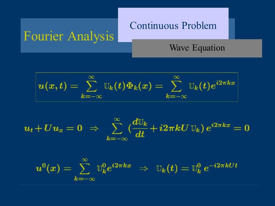 Continuous Problem Fourier Analysis Wave Equation