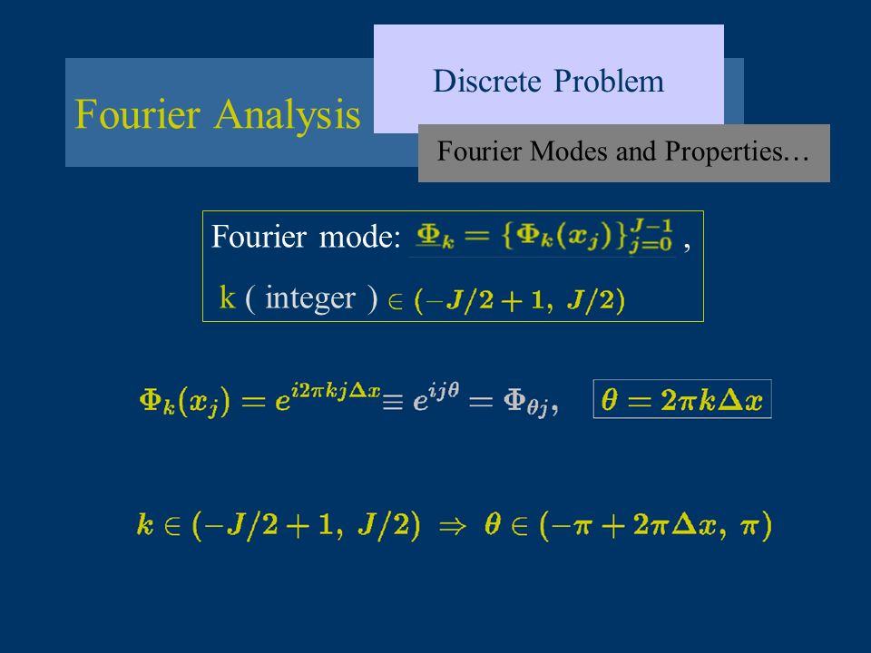 Fourier Modes and Properties…