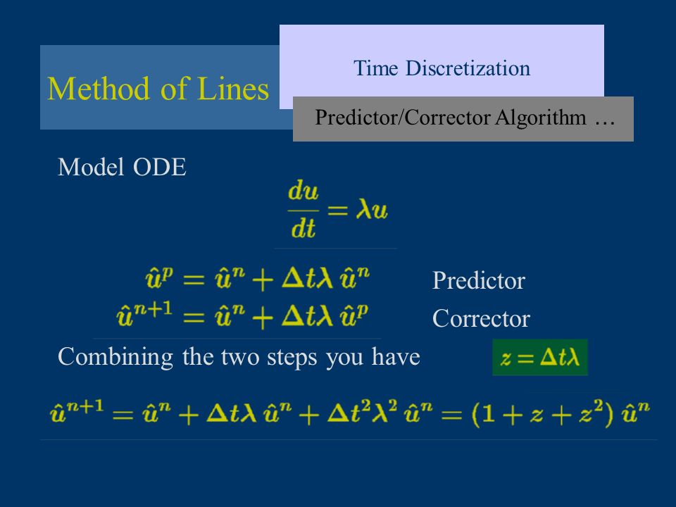Predictor/Corrector Algorithm …