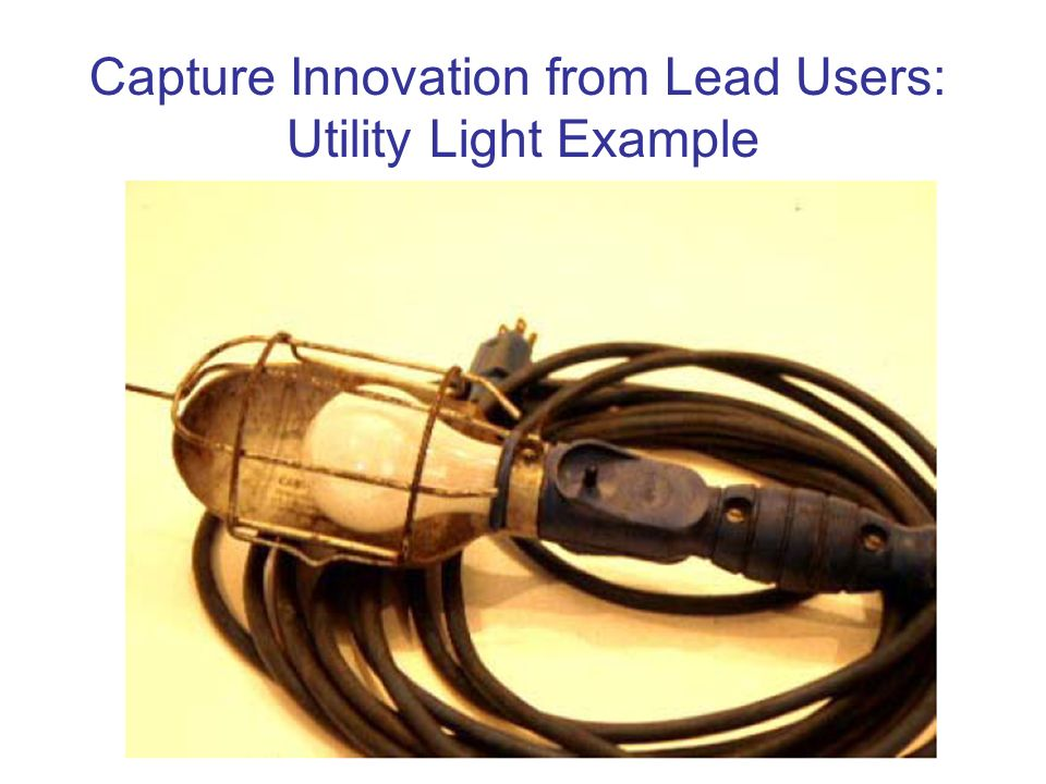 Capture Innovation from Lead Users: