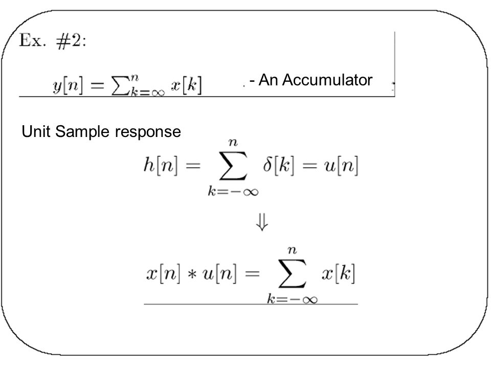 - An Accumulator Unit Sample response