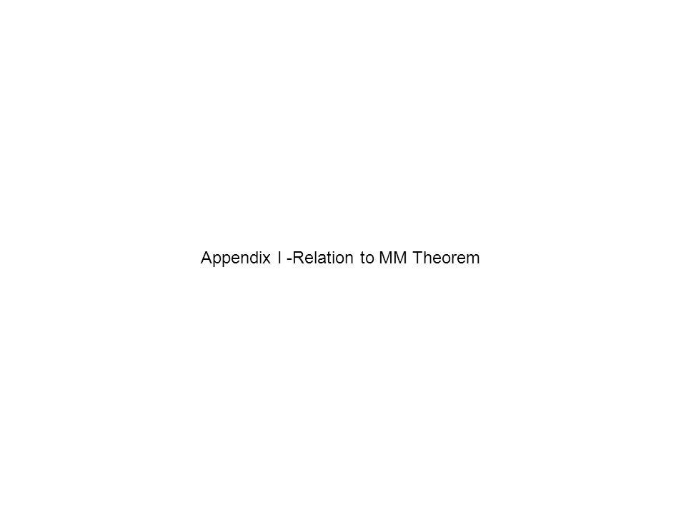 Appendix I -Relation to MM Theorem