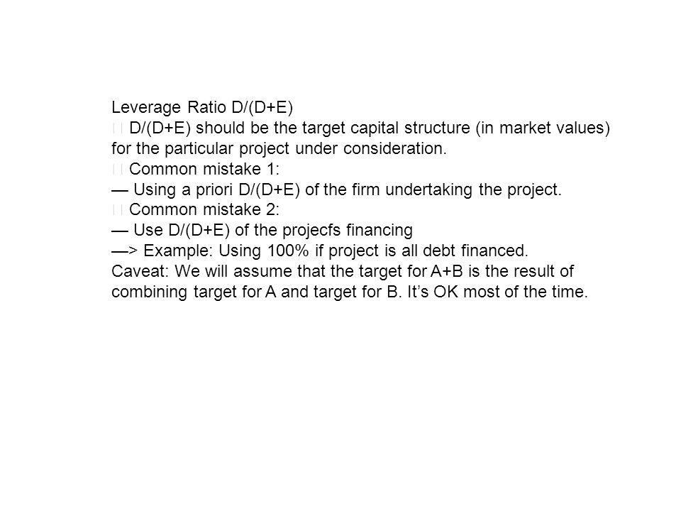 Leverage Ratio D/(D+E)