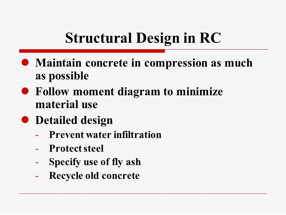 Structural Design in RC