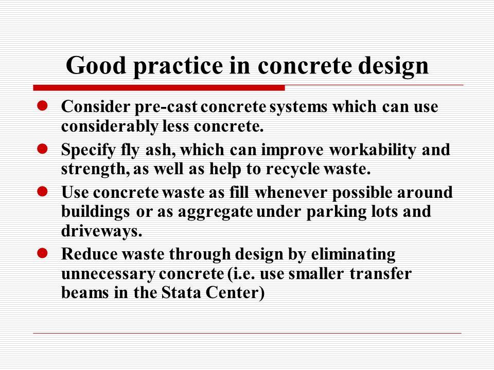 Good practice in concrete design