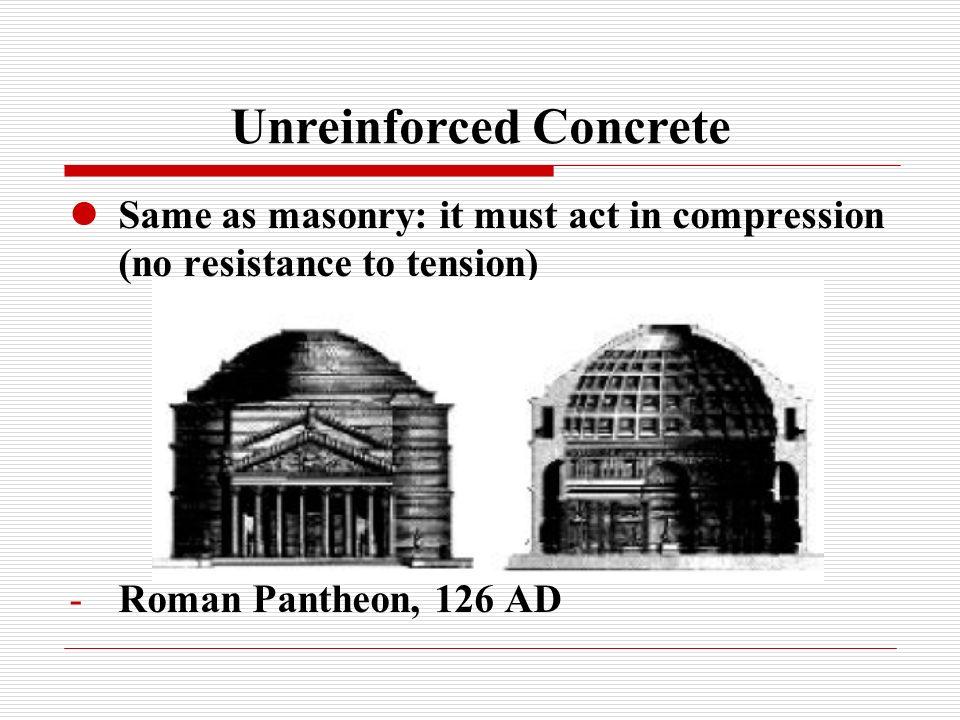 Unreinforced Concrete
