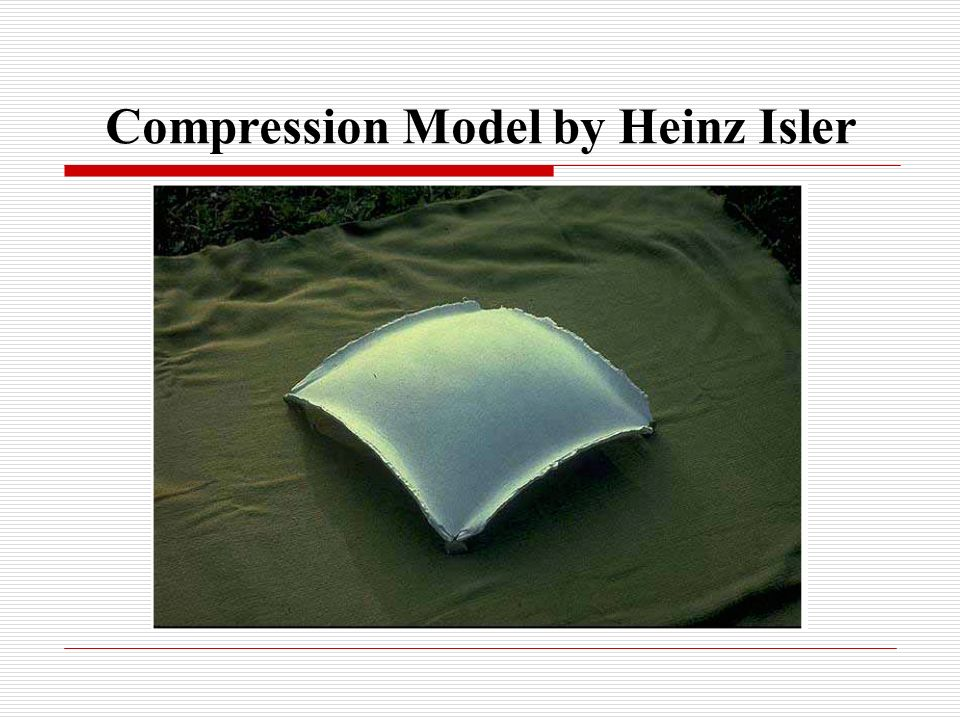 Compression Model by Heinz Isler