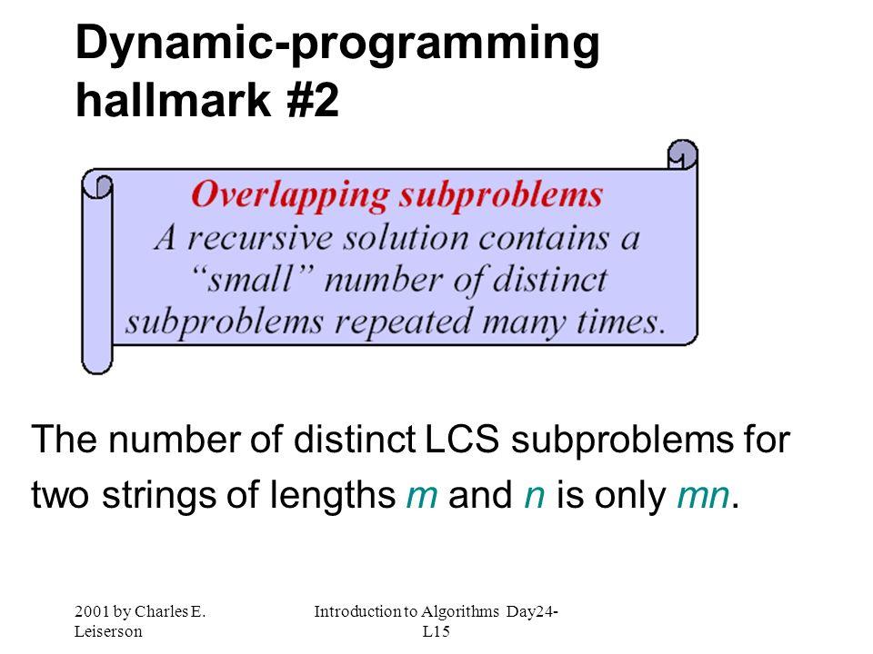 Dynamic-programming hallmark #2