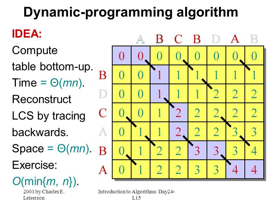 Dynamic-programming algorithm