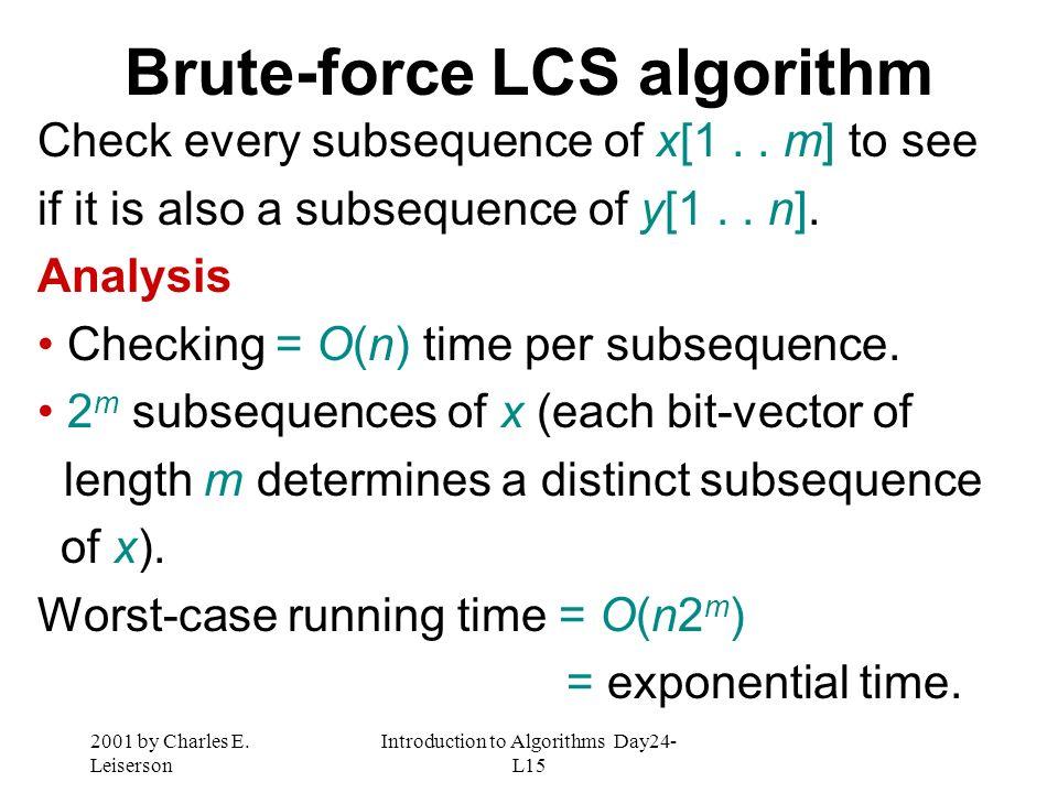 Brute-force LCS algorithm