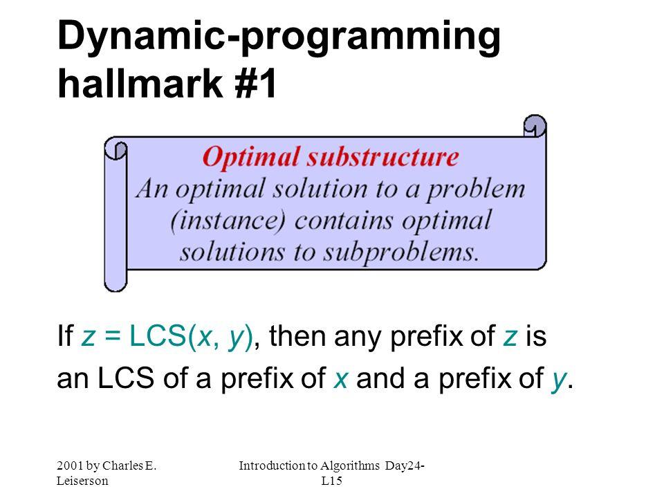 Dynamic-programming hallmark #1