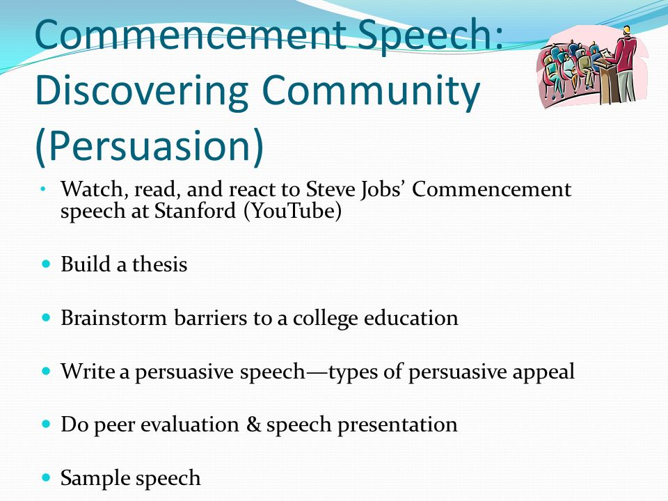 career informative speech Speeches that can be given can include informative, persuasive, argumentative speeches any of these kinds of speeches you can prepare using a 6 step process: step 1: choose a topic.
