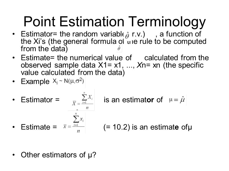 Point Estimation Terminology