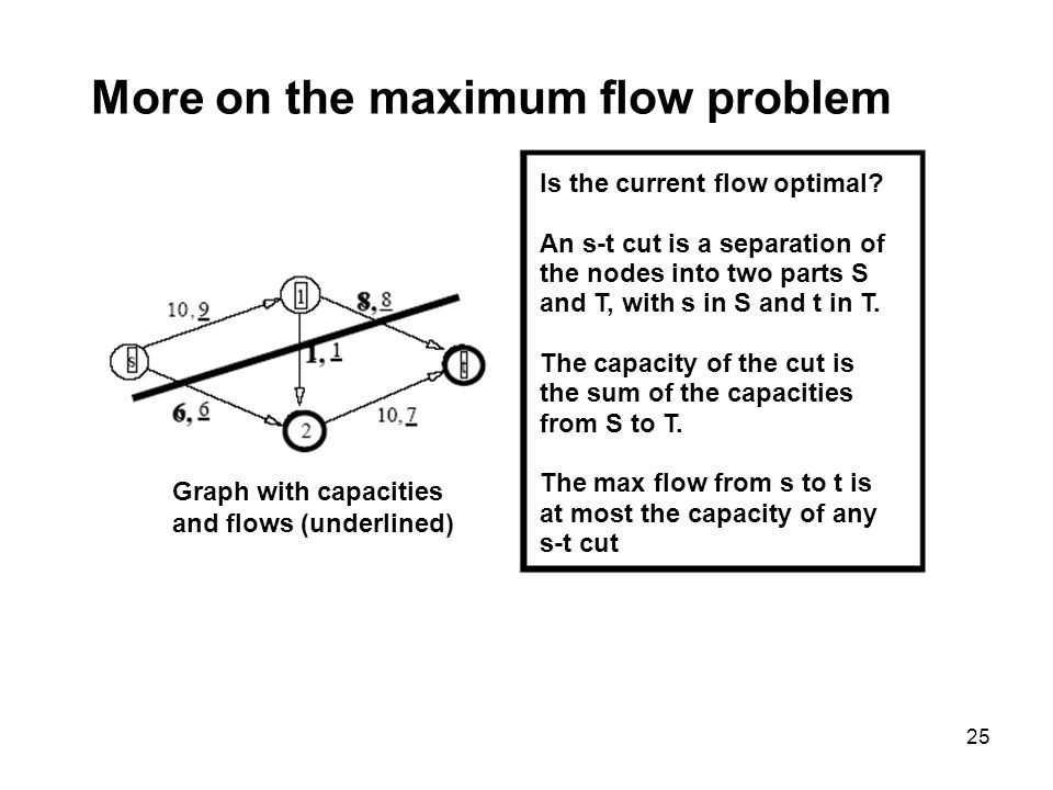 More on the maximum flow problem