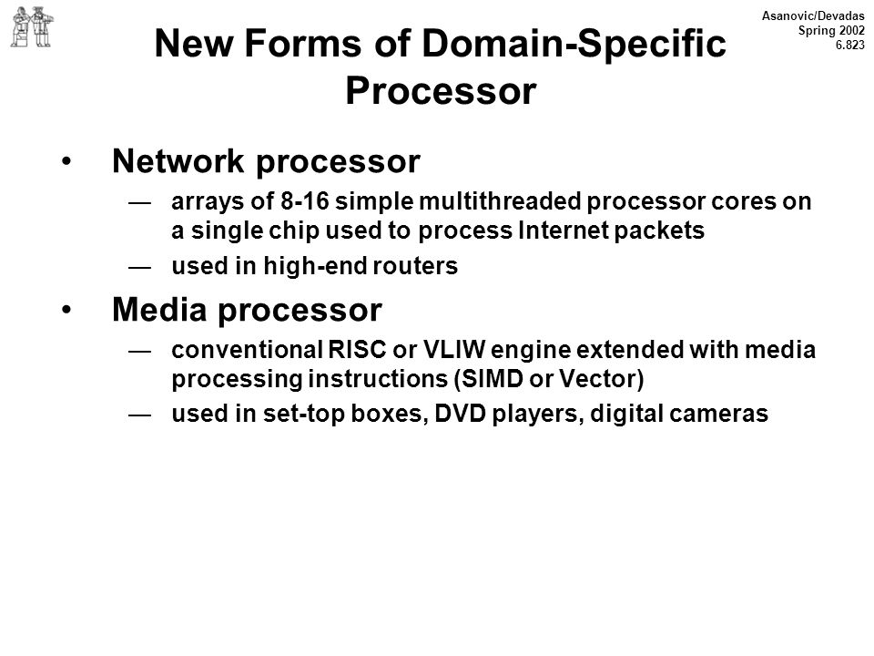 New Forms of Domain-Specific Processor
