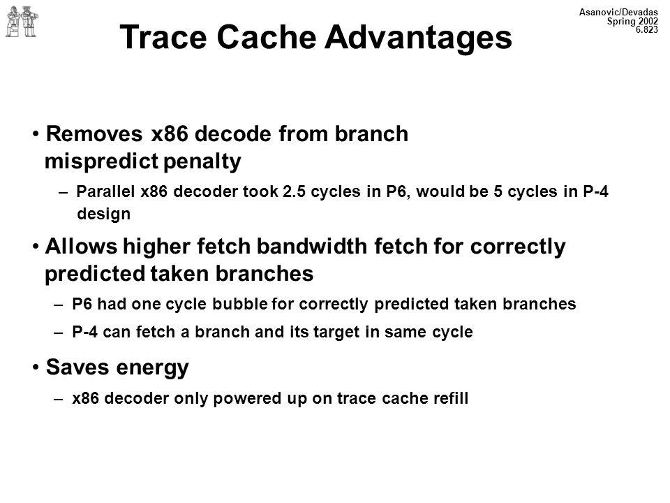 Trace Cache Advantages