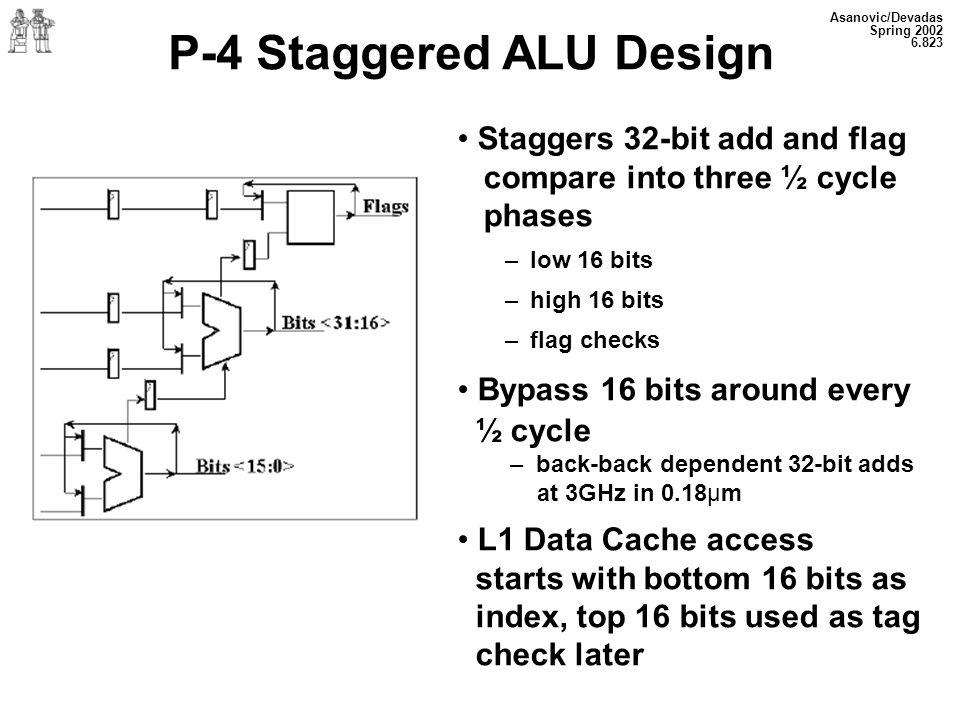 P-4 Staggered ALU Design
