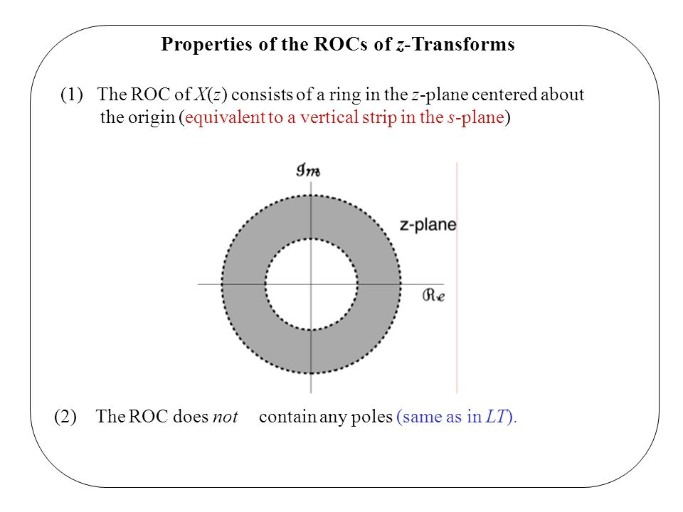 Properties of the ROCs of z-Transforms