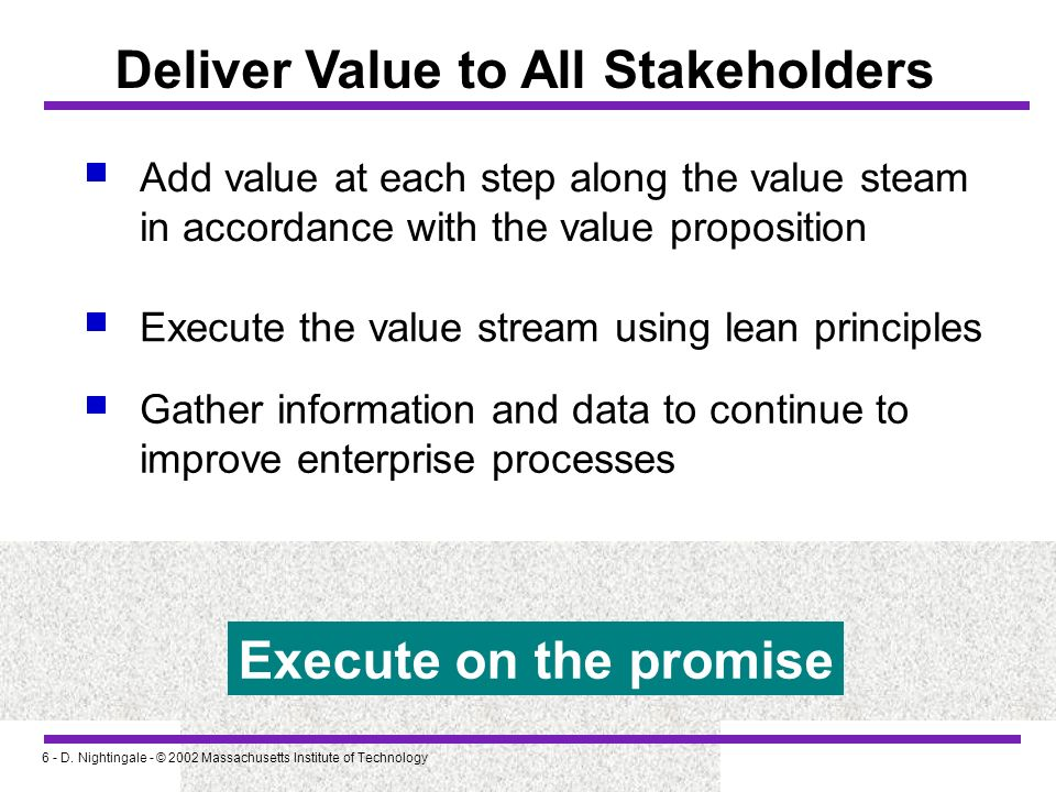 Deliver Value to All Stakeholders