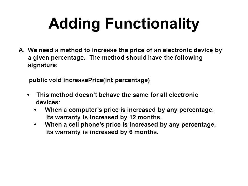 Adding Functionality
