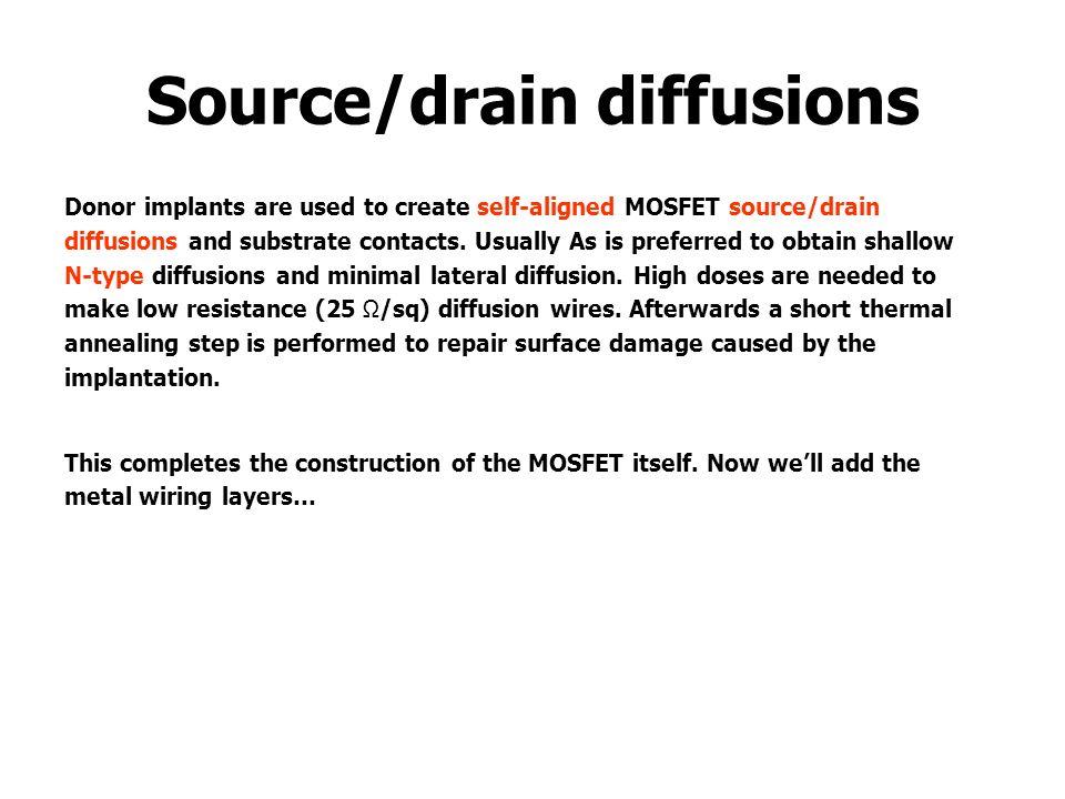 Source/drain diffusions
