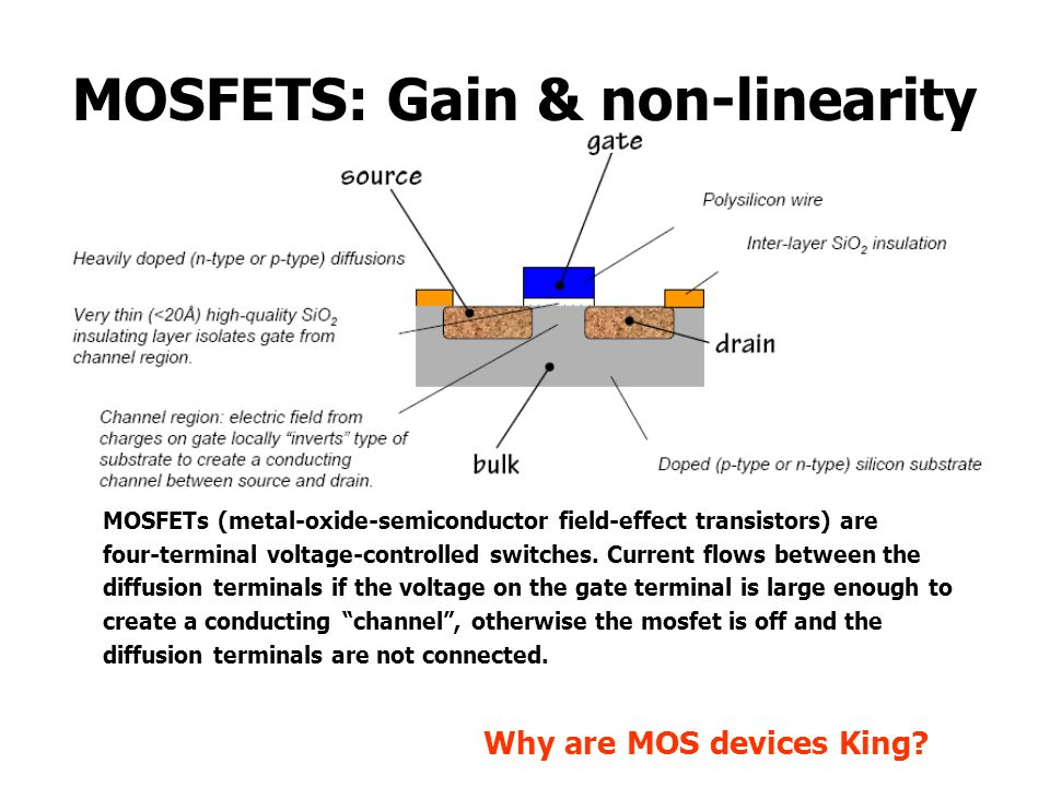MOSFETS: Gain & non-linearity