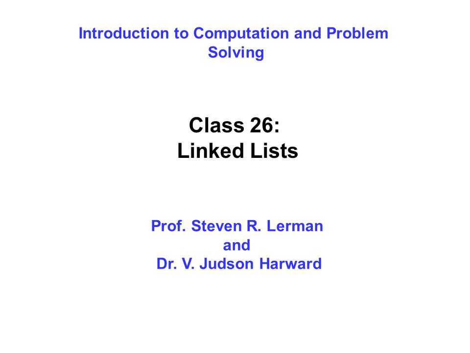 Introduction to Computation and Problem