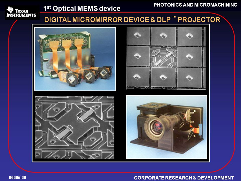 DIGITAL MICROMIRROR DEVICE & DLP TM PROJECTOR