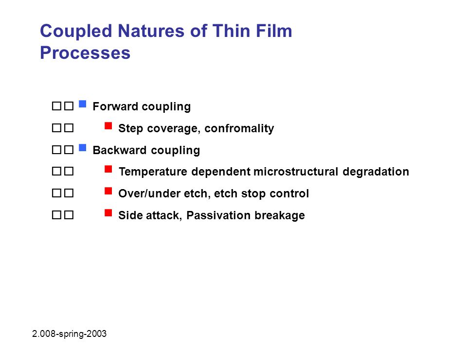 Coupled Natures of Thin Film Processes