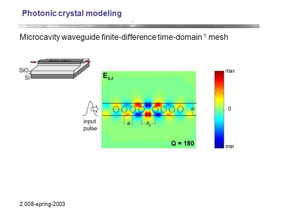 Photonic crystal modeling