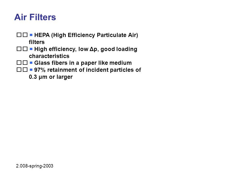 Air Filters   HEPA (High Efficiency Particulate Air) filters