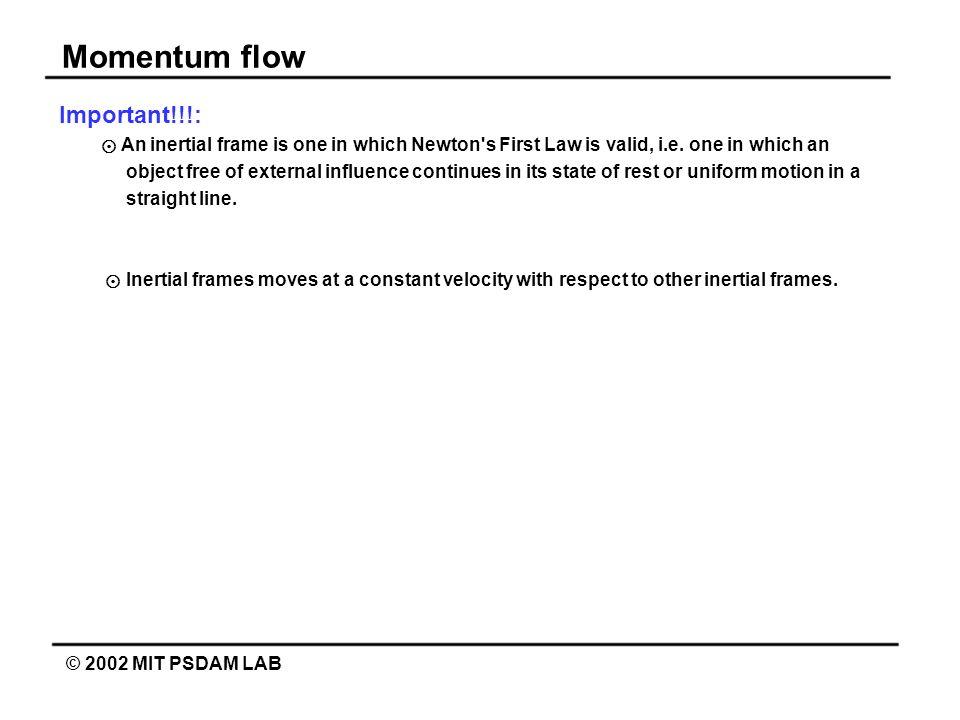 Momentum flow Important!!!: