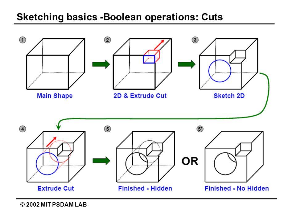 Sketching basics -Boolean operations: Cuts