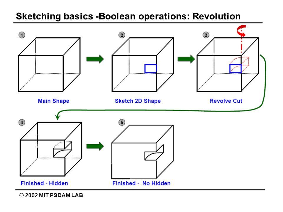 Sketching basics -Boolean operations: Revolution