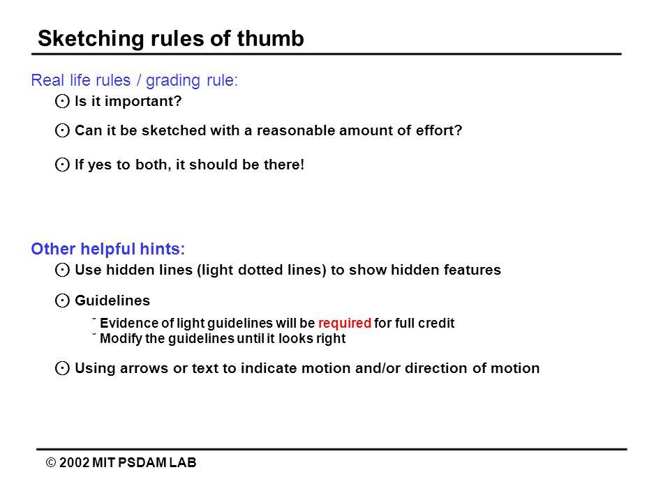Sketching rules of thumb